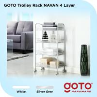 Goto Navan Rolling Storage Cart Rak Troli Kamar Mandi Tidur Dapur