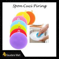 Spon Cuci Piring Silicone Spon Silicone Dish Sponge Wash Anti Bakteri