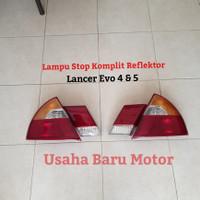Lampu Stop Rem Set Komplit Reflektor Mitsubishi Lancer Evo 4 5 CK4