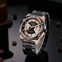 jam tangan pria new original Belleda 9126 rantai Stainless Resisten