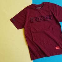 kaos distro 3second pria size m-L-xl