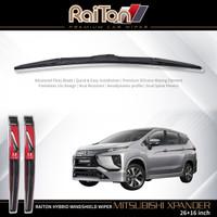 """Raiton Sepasang Wiper Hybrid Kaca Depan Mitsubishi Xpander 26"""" & 16"""""""
