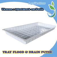 Hidroponik Flood And Drain Tray 192x100x16 cm Putih