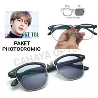 Frame Kacamata Clubmaster Bening 3016 kacamata Wanita Kacamata Vintage