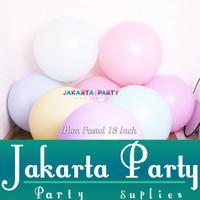 Balon Latex Macaron JUMBO / Balon Latex Pastel / Balon Pastel 18 Inch