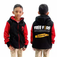 SALE JAKET ANAK FREE FIRE REGLAN HOODIE BEST SELLER SWEATER ANAK