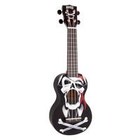 Mahalo Ukulele Soprano Pirate Black MA1PI-BK