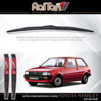 """Raiton Sepasang Wiper Hybrid Kaca Depan Mobil Toyota Starlet 16"""" & 16"""""""