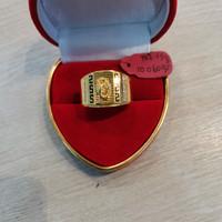 Cincin cowok emas kuning putih 750