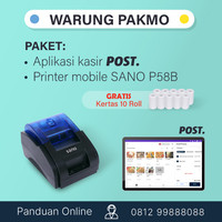 Paket aplikasi kasir mobile android Warung Pakmo