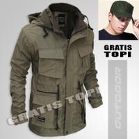 Jaket parka pria model outdoor tad tactical army waterproof original