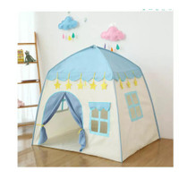 Tenda Anak Model Rumah AN8112 Tenda Bermain Princess Castle Outdoor - Biru Muda