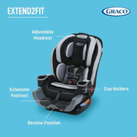 Carseat Graco Extend 2 Fit 3in1 Convertible