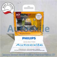 Philips Weather Vision H7 Kuning Lampu Ninja 250 R25 Fiesta Captiva