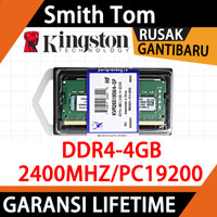 RAM KINGSTON SODIMM LAPTOP DDR4 4GB PC 19200 RAM 2400 Mhz