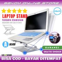 KOLMI Laptop Stand Foldable Portable Aluminium Dudukan Laptop - A SILVER