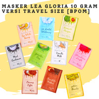 Masker Wajah Lea Gloria 10gr Versi Travel Size Masker Organik [BPOM]