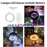 Lampu Tumblr Kawat / Lampu Hias LED Baterai / Lampu LED / Lampu Hias