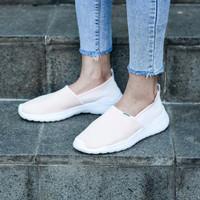 "sepatu sneakers wanita slip on adidas Cloadfoam ""soft Pink"" origina"