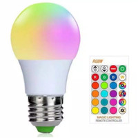 Lampu Bohlam E27 LED RGB Warna Warni Remote