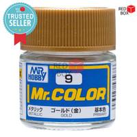 Mr Color C9 Gold - Mr Hobby Gundam Model Kit Airbrush Paint Cat C 9