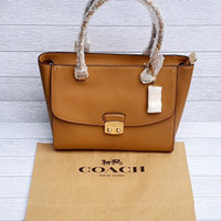 COACH Original Tas Wanitaa Genuine Leather Handbag