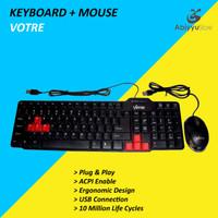 Keyboard Mouse USB Votre For Komputer - PC - Laptop - Notebook