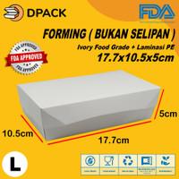 Paper Lunch Box Ukuran L FoodGrade Kemasan Makanan Kotak Polos