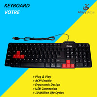 Keyboard USB Votre For Komputer - PC - Laptop - Notebook