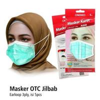 Masker Onemed Hijab 3 Ply Isi 5 pcs Jilbab Headloop