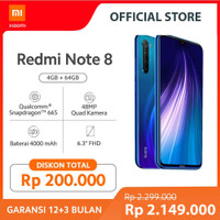 XiaoMi Redmi Note 8 [4GB + 64GB/Garansi offical]
