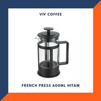 French Press 600ml Hitam