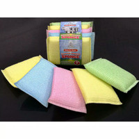 Busa/Sponge/Spons Cuci Piring Warna Warni (Super Magic Sponge) Isi 5pc