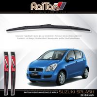 """Raiton Sepasang Wiper Hybrid Kaca Depan Mobil Suzuki Splash 22"""" & 16"""""""