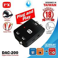 PX DAC 200 Audio Converter RCA to Digital Optical - GARANSI 18 BULAN