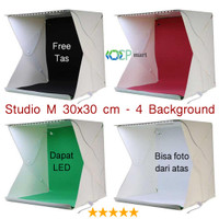 Mini Photo Studio Box SIZE M portable lampu LED kotak foto produk