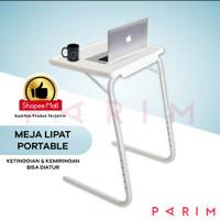 PARIM Meja Lipat Portable Meja Laptop/Makan/Belajar Serba Guna PRM-122