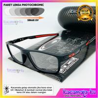 Frame Kacamata Minus Plus Sporty Pria O Paket Lensa Photocromic