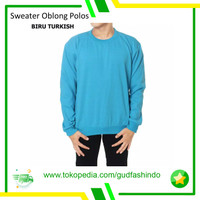 Sweater Polos Oblong L XL XXL Unisex Pria Wanita Bahan Fleece Tebal