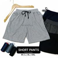 Celana Pendek Polos Adem Bahan Kaos - Celana Pendek Kolor Adem - M, Hitam
