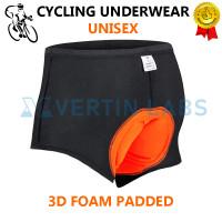 Celana Sepeda Padding Gel Busa - Celana Dalam Sepeda Foam 3D - UNISEX - S