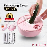 PARIM Alat Potong Kentang Sayur Pengiris Parutan 12 In 1 PRM-123