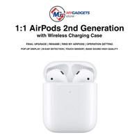 Earphone Apple Airpods 2 Wireless Case Premium Clone Headset Bluetooth