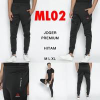 Celana Panjang Joger / Training REEBOK Black/Hitam ML02