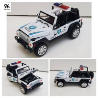 Miniatur Mobil Jeep Diecast Replica - Putih