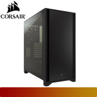 Corsair - 4000D Tempered Glass Mid-Tower ATX Case — Black