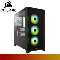 Corsair - iCUE 4000X RGB Tempered Glass Mid-Tower ATX Case — Black