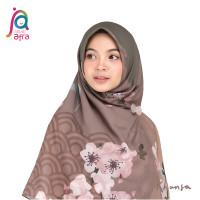 Jilbab Afra JA Signature Voal Segi Empat Hijab Instant Motif Khansa