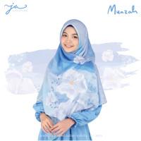 Jilbab Afra JA Signature Voal Segi Empat Hijab Instant Motif Muazah