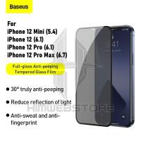 BASEUS Anti Gores Spy Iphone 12 Pro Max Mini Tempered Glass Privacy